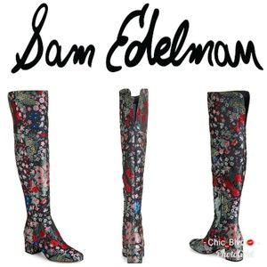🆕️ Elina Floral-Jacquard Knee Boots